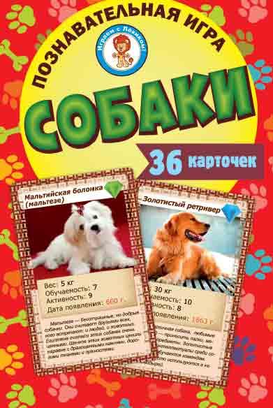 Игра Настольная Собаки 36 карточек