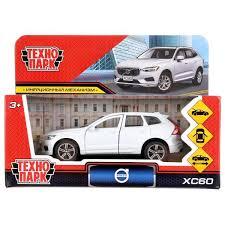 Машина Volvo xc60 r-desing 12см металл открыв. двери, инерц., белый