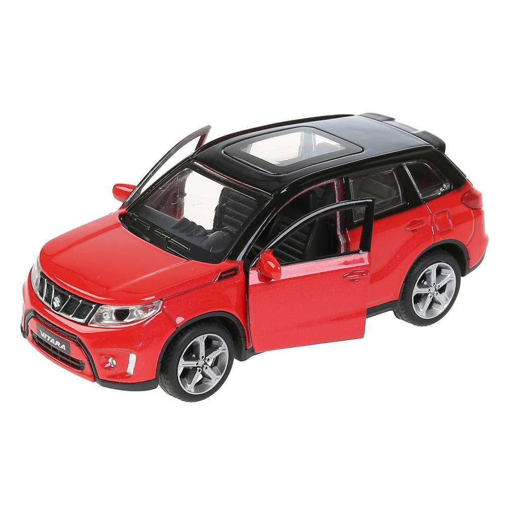 Машина SUZUKI VITARA 12 см, металл двери, багаж, инерц, красн с черным