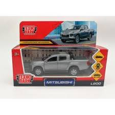 Машина MITSUBISHI L200 PICKUP 13см металл матовый серый, двери, багаж