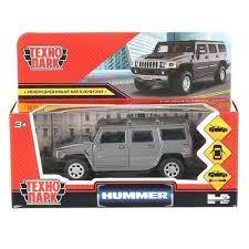 Машина Hummer h2 12см металл, открыв. двери, инерц., темно-серая