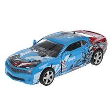 Машина Спорткар 12см металл свет-звук открыв. двери, инерц., синяя