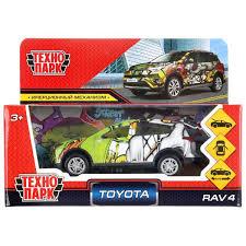 Машина Toyota Rav4 графити 12см металл инерц, в ассорт.
