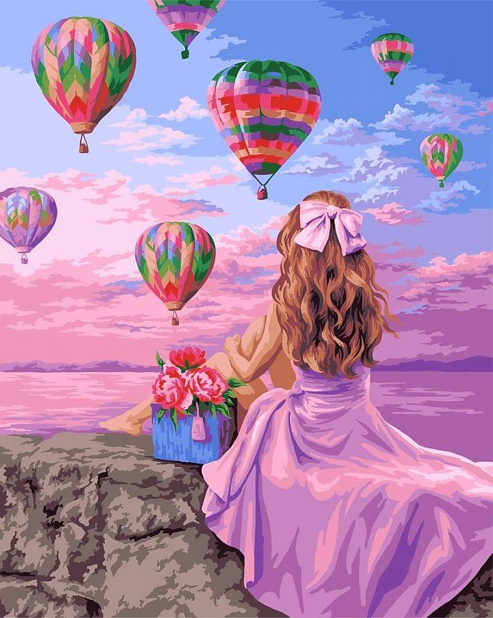 Творч Рисование по номерам 40*50 Фестиваль воздушных шаров