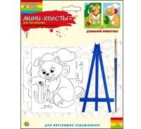 Творч Холст для рисования по номерам 10,2х15,2 Домашние животные