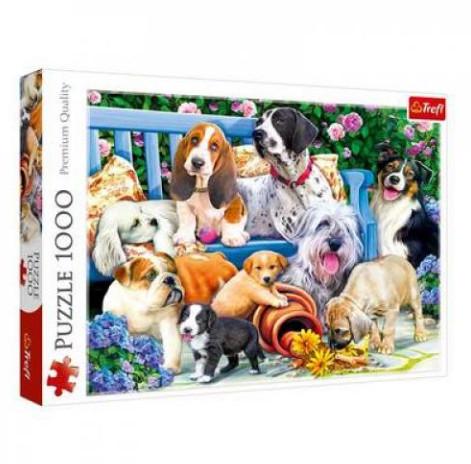 Пазл 1000 Trefl 10556 Собаки в саду