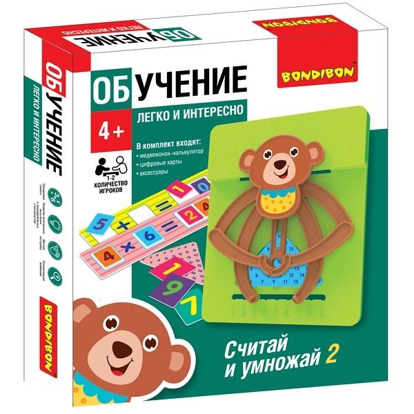 Игра Обучающая Считай и умножай 2 Мишка
