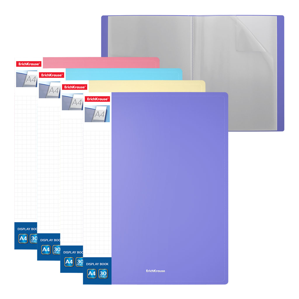 Папка-файл А4 30л EK Matt Pastel ассорти