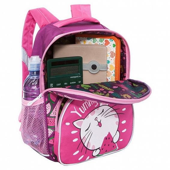 Рюкзак детский Grizzly Кошечка ярко/розовый - светло/серый