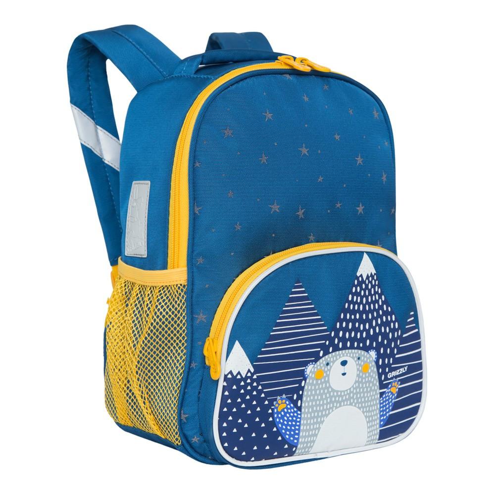 Рюкзак детский Grizzly Мишка темно/синий