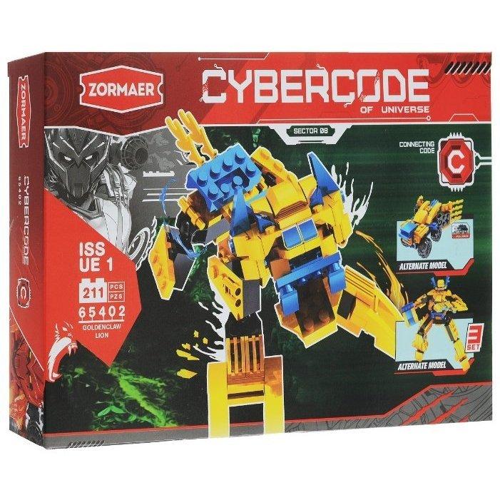 АКЦИЯ-20 Игр Конструктор Cybercode Goldenclaw Lion 211эл.