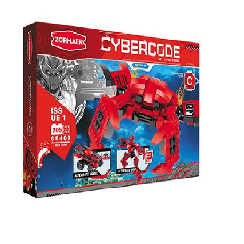 АКЦИЯ-20 Игр Конструктор Cybercode Iron Crab 205эл.