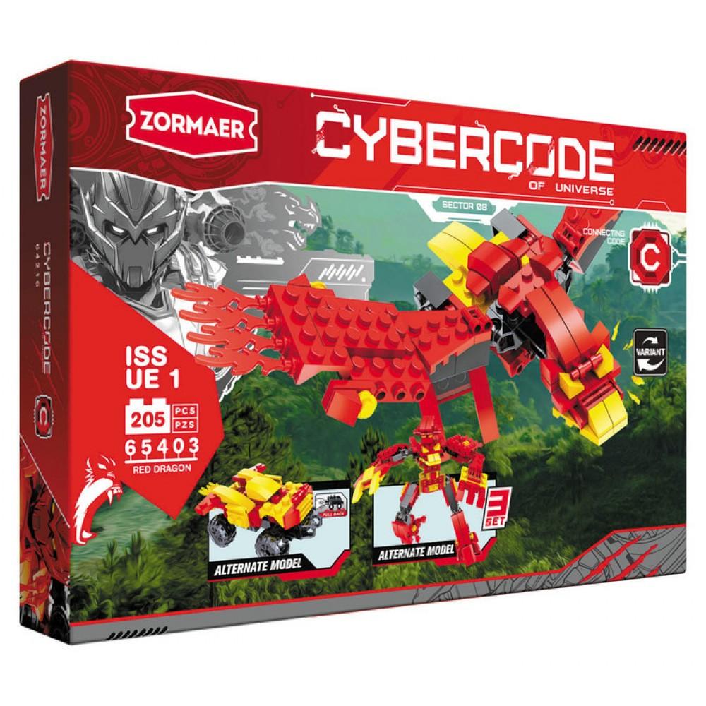 АКЦИЯ-20 Игр Конструктор Cybercode Red Dragon 205эл.