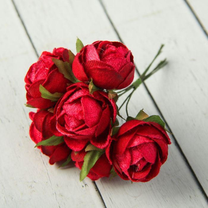 Цветы Нежные розы букет 6 цветков 12 см d=3,5 см