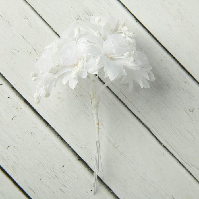 Цветы Космические розы букет 6 цветков 12 см d=4см