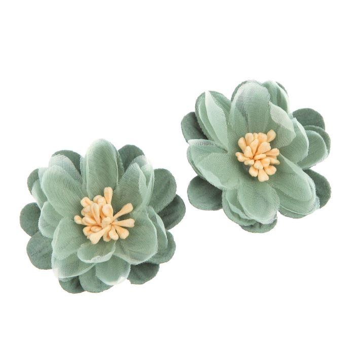 Цветы Нимфея зелёный набор 2 шт 5х5 см под замшу