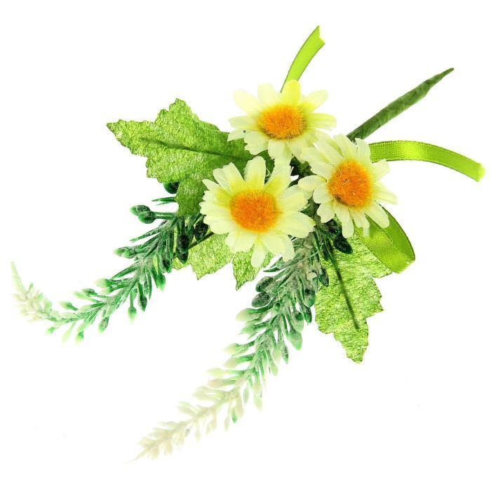 Цветы Декоративный букетик с кремовыми ромашками H31-9279