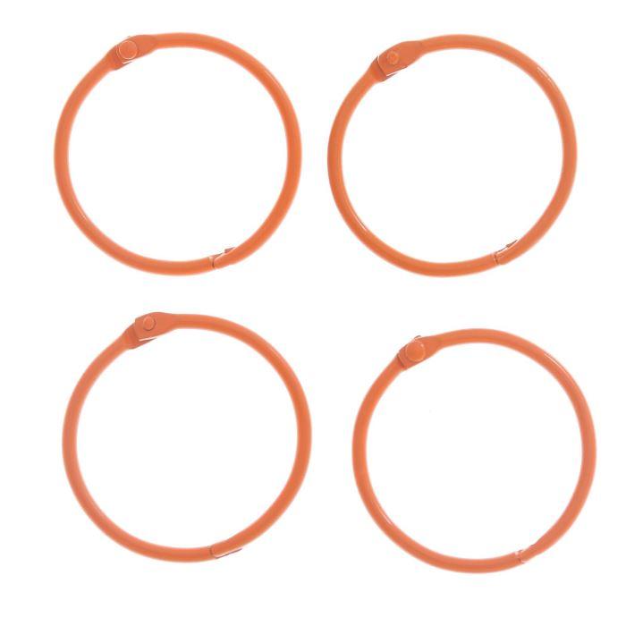 Кольца для фотоальбомов Оранжевое набор 4шт d=4,5см