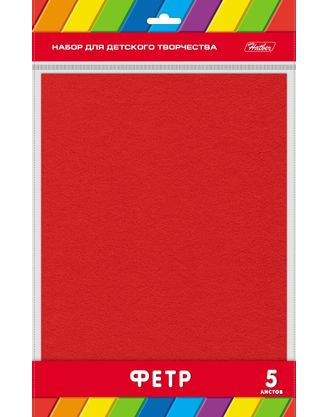Фетр А4 5л Красный