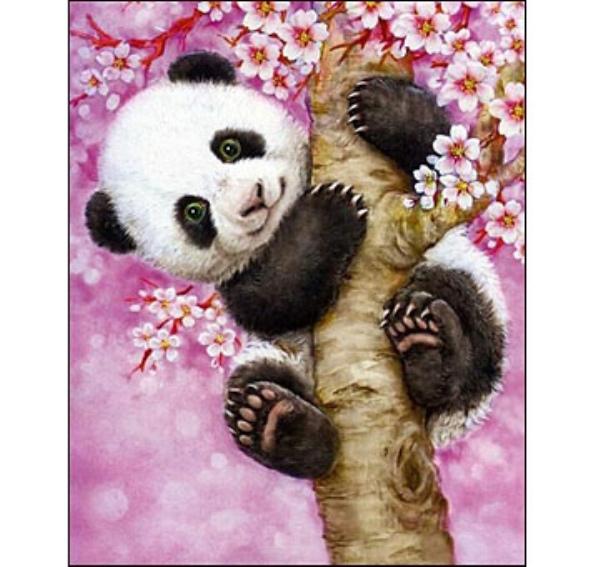 Вышивка алмазная 17Х22 Милая панда (полн.заполн)