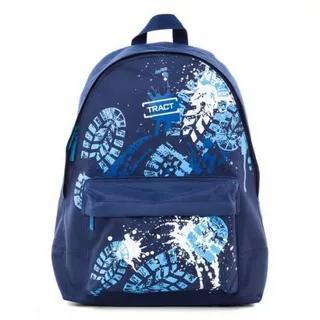 Рюкзак молодежный Grizzly черный-синий экокожа