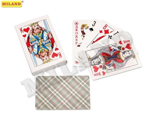 Игра Карты игральные 54шт Классика с пластиковым покрытием