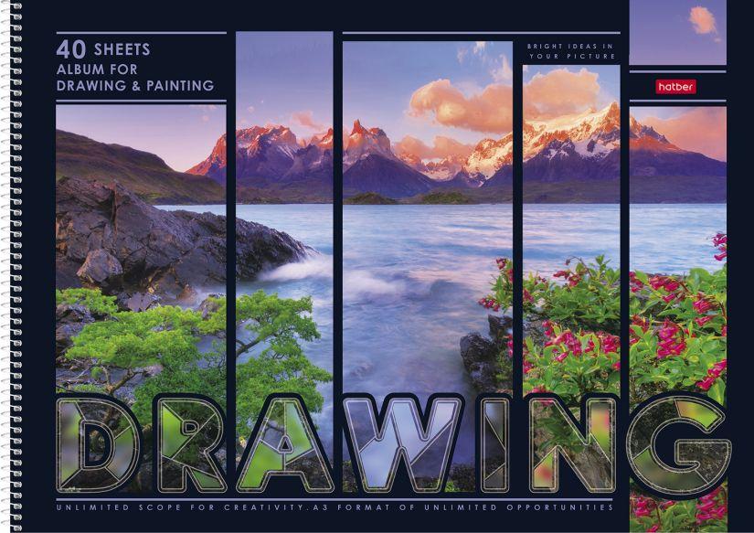 Альбом д/рис А3 40л спир Яркие краски природы