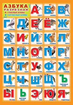 Плакат Азбука разрезная А3 вертик