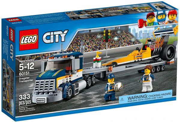 Конструктор Lego City Город Грузовик для перевозки драгстера
