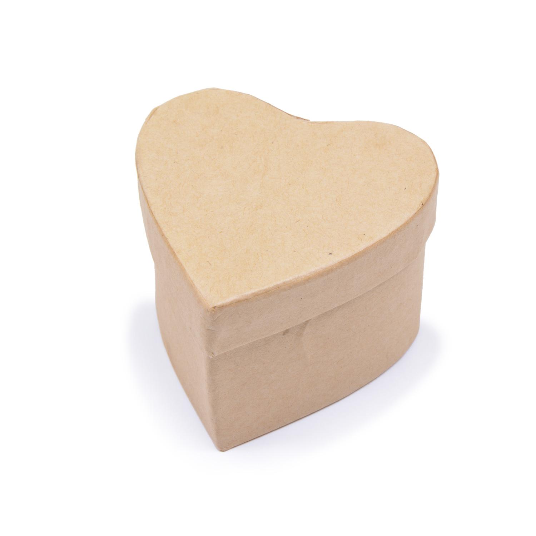 Заготовка из картона Шкатулка Сердце 1шт 7x7x5см