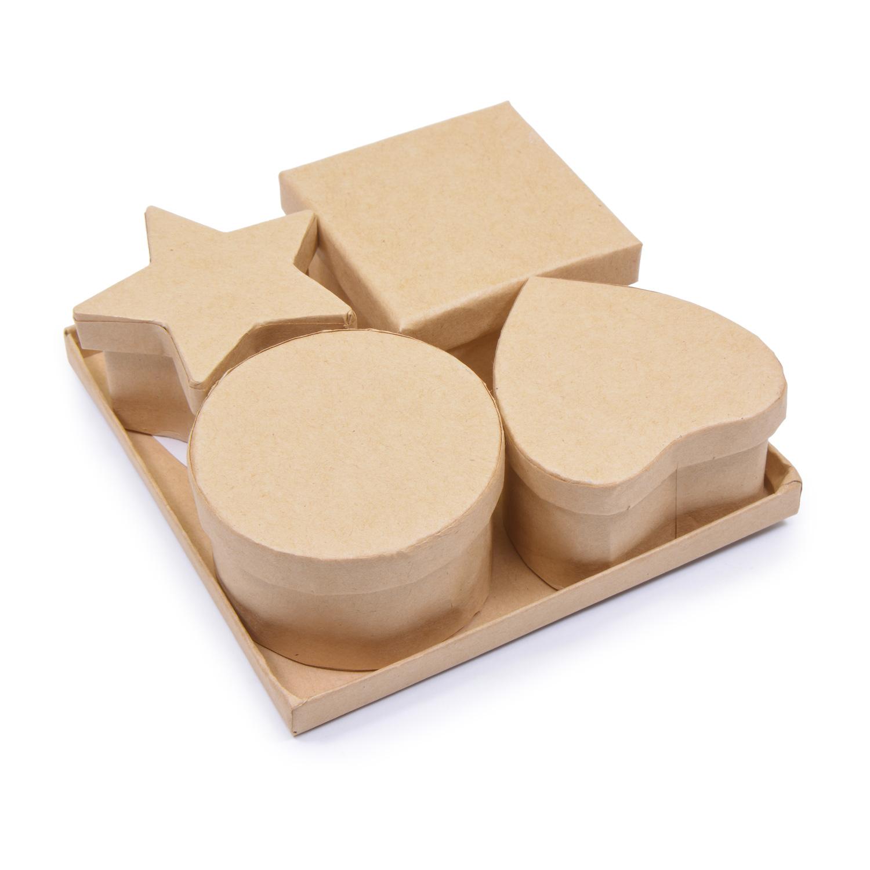Творч Заготовка из картона Шкатулка 4шт 11,8x3,7x11,8 см