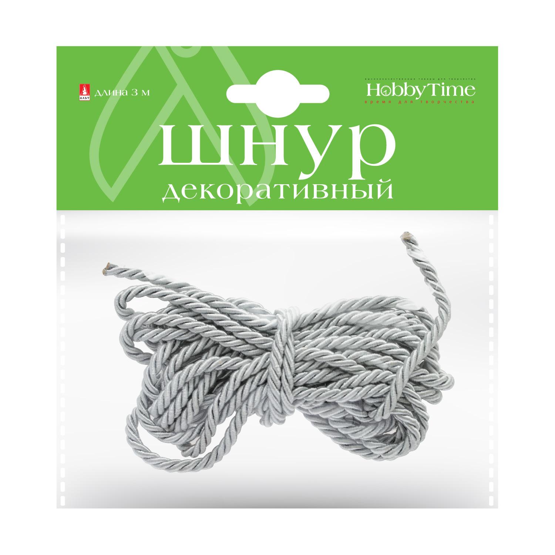 Творч Шнур декоративный 3м серебристый