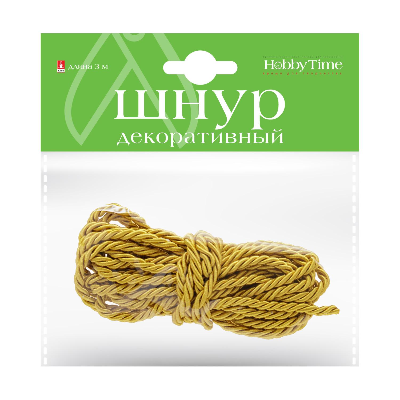 Творч Шнур декоративный 3м золотой
