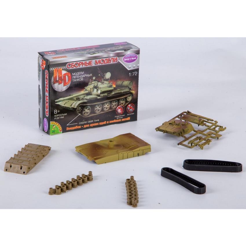 """Сборная модель 4D Танк """"USA M1A2"""" 1:72 пласт"""