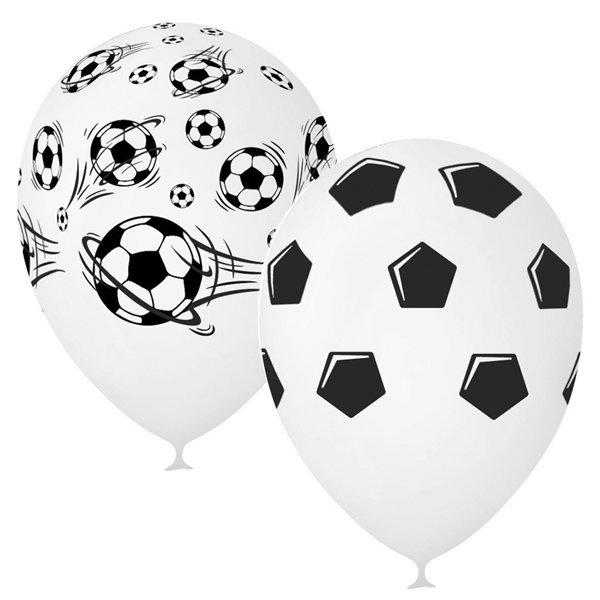 Праз Шар 30см Футбол Пастель WHITE (шелк)