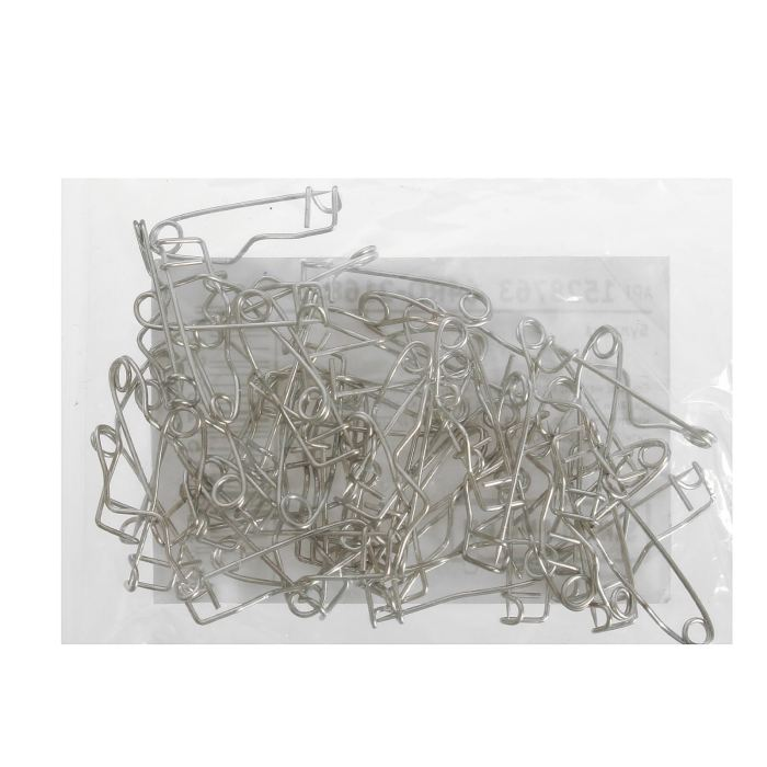 Булавка для значка металл 2,2х0,6х0,5см серебряный