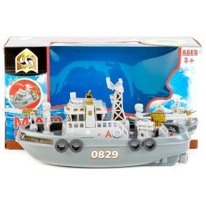 Катер на батар. свет, звук Marine patrolboat