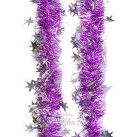 НГ Гирлянда мишура 200см Созвездие серебро сиреневый