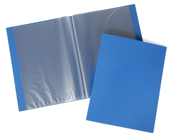 Папка-файл А4 60л LINE Синяя