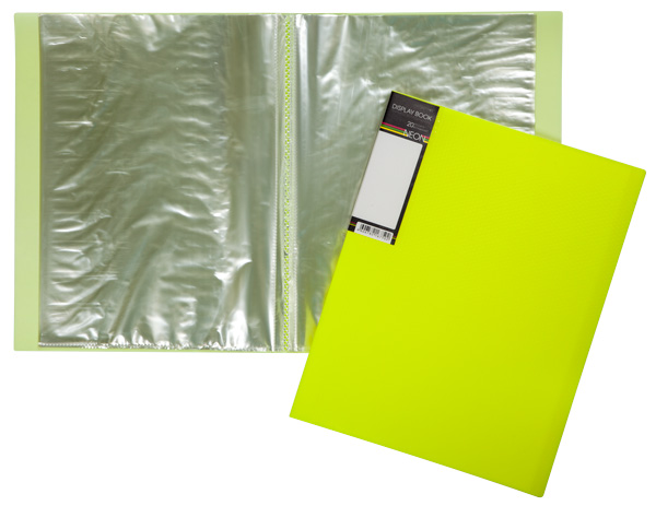 Папка-файл А4 20л DIAMOND NEON Желтая