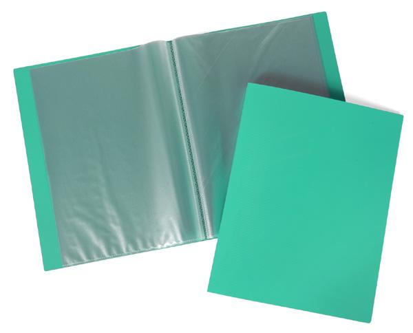 Папка-файл А4 60л LINE Зеленая