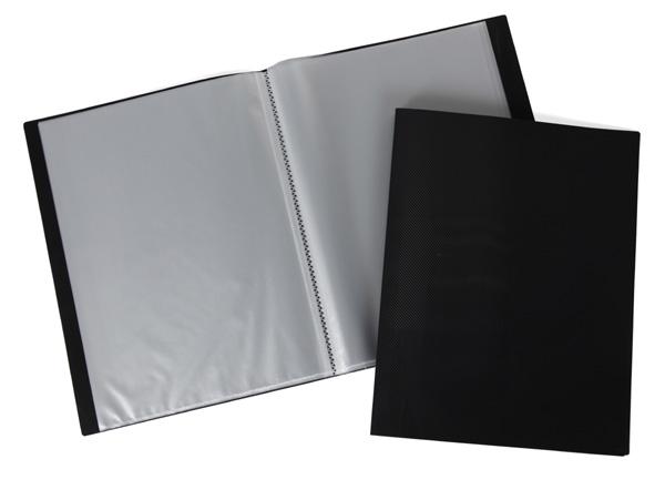 Папка-файл А4 60л LINE Черная