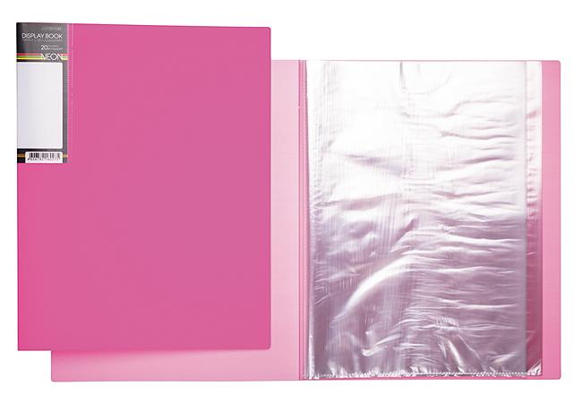 Папка-файл А4 20л DIAMOND NEON Розовая