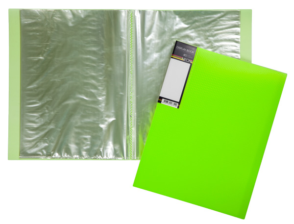 Папка-файл А4 40л DIAMOND NEON Зеленая