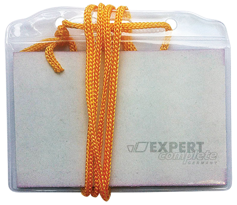 Бэйдж Expert Complete горизонтальный на шнурке прозрач.