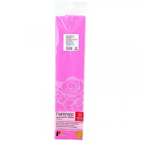 Бумага креповая 50*250см розовая