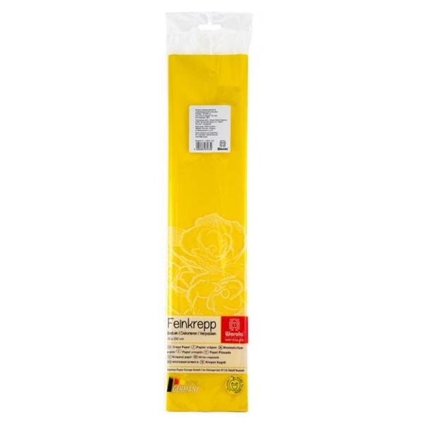 Бумага креповая 50*250см желтая