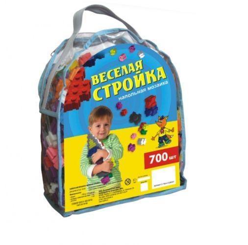 Конструктор пластмассовый Веселая стройка 700шт