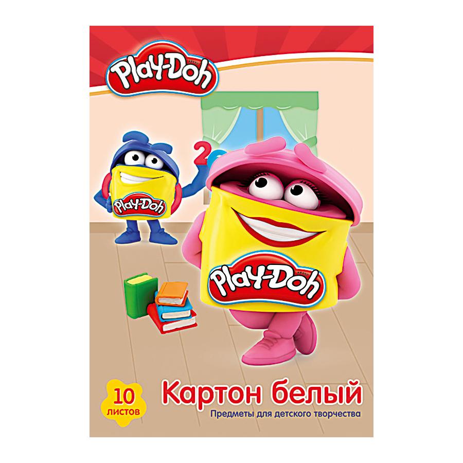 Картон белый А4 10л Play-Doh мелован в папке