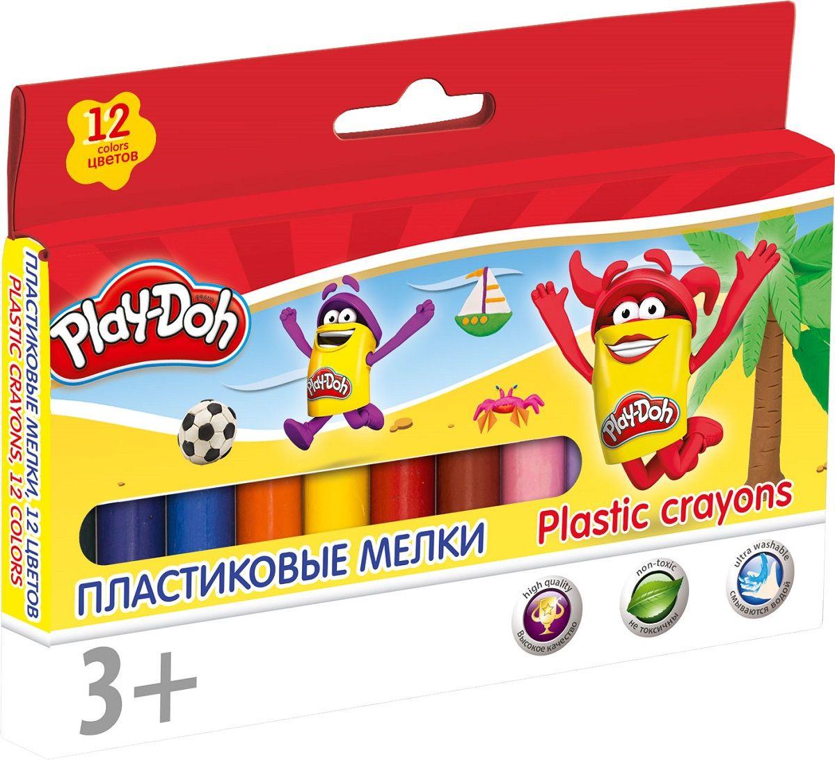 Мелки пластиковые 12цв Play-Doh